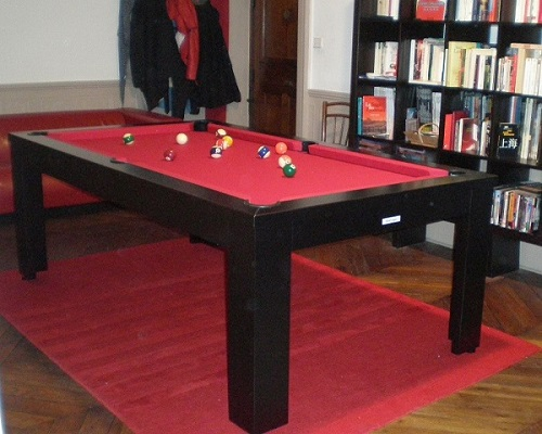 DIECO Design Noir tapis rouge