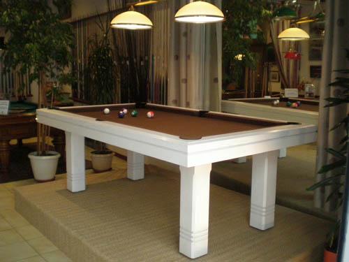 Billard-table Chêne massif brossé blanc